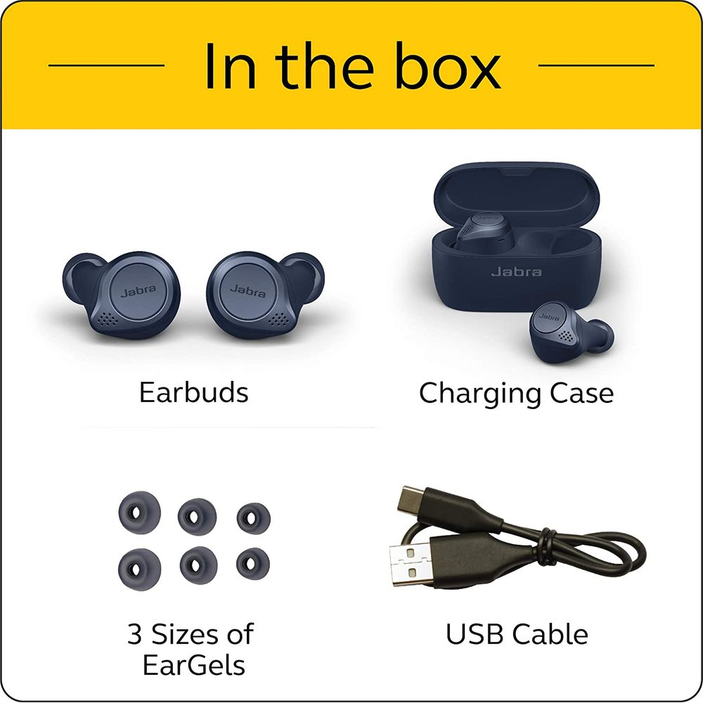 In The Box - Jabra Elite Active 75t True Wireless Earbuds